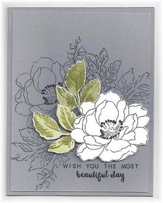 The card - stamped images are from Altenew. I stamped some of images in black on the background. The large flower on top is stamped wi...