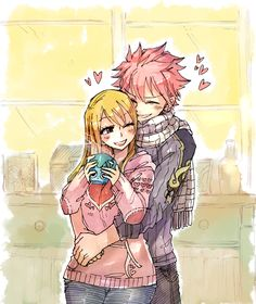 Tags: Fanart, FAIRY TAIL, Natsu Dragneel, Lucy Heartfilia, Happy (FAIRY TAIL), Rusky-boz, PNG Conversion, Tumblr