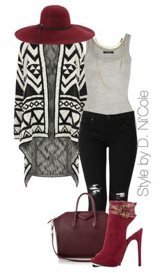 Untitled #2064 by stylebydnicole on Polyvore featuring polyvore fashion style Oasis Isabel Marant Hudson Jeans Qupid Givenchy French Connection Inverni clothing