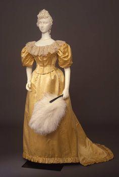Evening dress ca. 1894 From the Galleria del Costume di Palazzo Pitti via Europeana Fashion