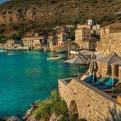 Limenion, Lakonia, Greece @minogiannisvalantis Places To Travel, Places To Go, Argos, Greece Travel, Greek Islands, Vacation Spots, Santorini, Beautiful World, Summer Fun