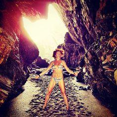 http://electroosmosisltd.co.uk  #seaside #lowtide #sand #cave #cavewoman #wildwomen #tunel #naturaltunel #rock #bikini #fitgirl #girl #beatuiful #beautyofnature #beautifulgirl #power #nature #girlpower #joy #joyful #cornwall #uk #tintagel #tintagelcastle #LiveUK #intense #expression