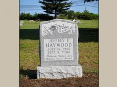 Upright Headstone Built for Haywood Family