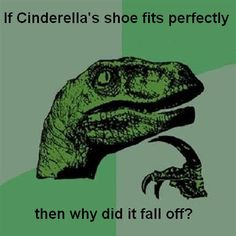 If Cinderella's  shoe fit perfectly,  then why did it fall off ?