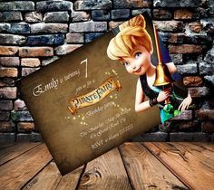 Items similar to Tinkerbell Pirate Fairy Party Invitation on Etsy Pirate Fairy Cake, Pirate Party, Fairy Birthday, Birthday Board, 6th Birthday Parties, 4th Birthday, Birthday Ideas, Fairy Party Invitations, Party Themes