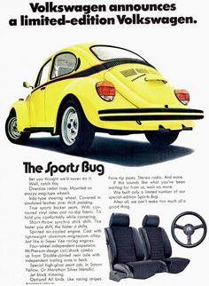 1973 Volkswagen Beetle advertisement