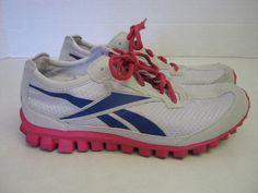 Reebok Running Shoes Sneakers USA 5 1/2 EUR 37 Gray Pink Purple Womens #Reebok #RunningCrossTraining