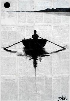 Newspaper art