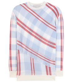 Stella McCartney - Check cotton sweater - Temper the pattern with neutral counterparts. - @ www.mytheresa.com