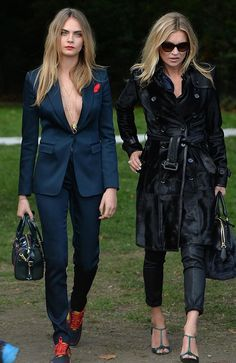 Cara and Kate London Fashion Week SS15, Front row and party circuit x