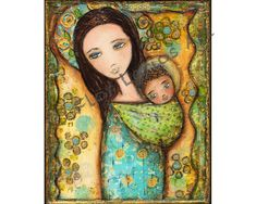 New! Mother  Print from Painting 8 x 10 inches By FLOR by FlorLarios, $20.00