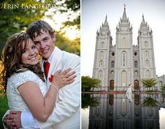 Salt Lake Temple wedding. I'll do this with the St. George temple someday!