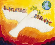 A Journey to Peace by Jill Giovanelli ( 13 yrs. Sponsored by Scenery Hill Lions Club Save Earth Drawing, Drawing For Kids, Art For Kids, Diversity Poster, Unity In Diversity, Peace Flag, Peace Art, Peace Dove, Earth Drawings