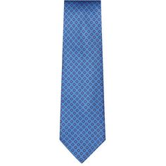 Ermenegildo Zegna Target Print Tie - Blue (7.630 RUB) ❤ liked on Polyvore featuring men's fashion, men's accessories, men's neckwear, ties and blue