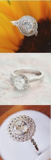 Which of these dazzling diamond engagement rings is your favorite? I ❤️ the bottom one!!!