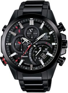 online shopping for Casio Edifice Black Bluetooth Wristwatch from top store. See new offer for Casio Edifice Black Bluetooth Wristwatch Sport Watches, Cool Watches, Watches For Men, Men's Watches, Unique Watches, Affordable Watches, Stainless Steel Watch, Stainless Steel Bracelet, Relogio Casio Edifice