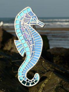 Blue Seahorse Mosaic
