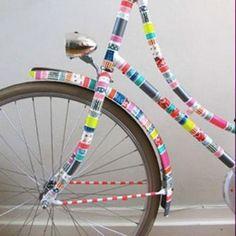 Bicicleta Tuneada con Washi Tape