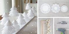 Návod na dekoratívne vianočné stromčeky z papierových obrúskov