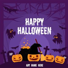 Fröhliche Halloween 2019 Bilder mit Namen - Happy Halloween Wishes Images with Name - halloween quotes Halloween Pumpkin Images, Fröhliches Halloween, Halloween Frames, Halloween Wishes, Halloween Horror Nights, Halloween Poster, Halloween Trick Or Treat, Halloween Costumes, Happy Halloween Quotes