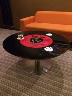 Vinyl coffee table