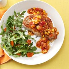 Salsa Skillet Pork Chops. Made it. It was good, used frozen corn instead of fresh.