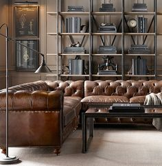 Petite Kensington Leather Customizable Sectional