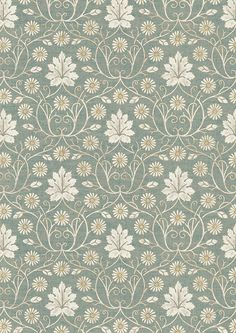 One of four designs in our Voysey collection, based on original drawings by the Edwardian architect and textile designer C. Old Wallpaper, Textured Wallpaper, Fabric Wallpaper, Pattern Wallpaper, Armani Wallpaper, Victorian Wallpaper, Textile Prints, Textile Design, Fabric Design