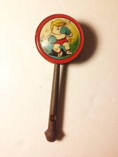 Tin Toy Whistle Vintage.  Boxing. RARE. by BigAlsKollects on Etsy, $19.99