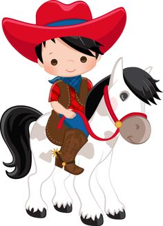 COWBOY E COWGIRL Cowboy Baby, Cowboy And Cowgirl, Cowboy Birthday Party, Cowgirl Party, Farm Birthday, Anniversaire Cow-boy, Girls Clips, Royalty Free Clipart, Image Clipart