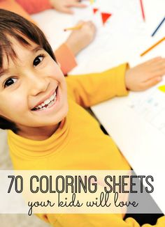 70 coloring sheets your kids will love! And they're all free!