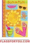 Sun and Fun Garden Flag