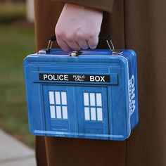 Limited edition TARDIS shaped lunch box; Price: $16.99