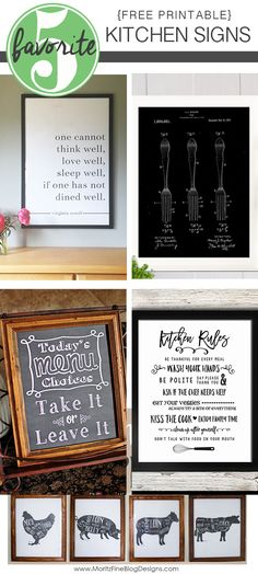 Is your kitchen drab and need a little pick-me-up, a simple conversation piece? These Free diy Printable Kitchen Signs are the key to spice up your home kitchen. Kitchen Sign Diy, Funny Kitchen Signs, Kitchen Humor, Kitchen Wall Art, Kitchen Ideas, Kitchen Redo, Diy Signs, Wall Signs, Diy Esstisch