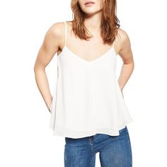 Women's Topshop Rouleau Swing Camisole (€13) ❤ liked on Polyvore featuring intimates, camis, ivory, petite, petite camisole, topshop cami and ivory camisole