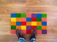 Cuadritos Multicolores Doormat