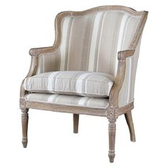Beige Antiqued French Constanza Accent Chair By Baxton