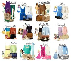 modern disney outfits. {princesses}
