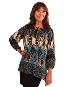 Multiples M3401T46 Band Collar Top $69