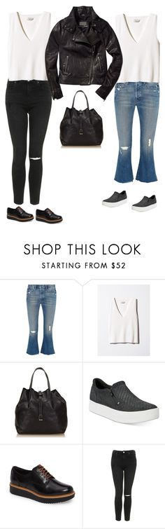 """F/W 2017"" by yuenchewwan ❤ liked on Polyvore featuring Mother, Tiffany & Co., Timberland, Clarks, Topshop and Mackage"