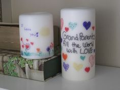 A Girl In Paradise: Transferring Ink to Candles