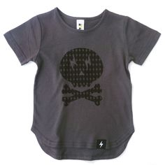 Kapow Kids Skull Drop Back Tee - A Little Bit of Cheek