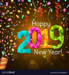 happy new year greetings happy new year 2019 party poppers christmas deco