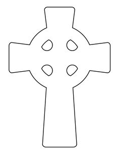Celtic cross pattern. Use the printable outline for crafts, creating stencils, scrapbooking, and more. Free PDF template to download and print at http://patternuniverse.com/download/celtic-cross-pattern/