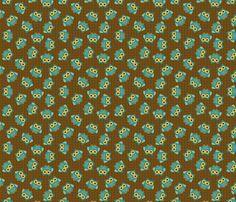 Woodland Owls Allover fabric by saraink on Spoonflower - custom fabric