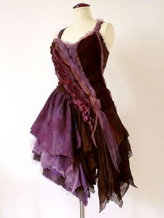 Prom Wedding Post Apocalyptic Plum Brown Purple by Zollection