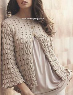 Hand Knitting Women's Sweaters Knitted Cape, Crochet Cardigan Pattern, Sweater Knitting Patterns, Knitting Designs, Hand Knitting, Knit Crochet, Robe Diy, Diy Crafts Knitting, Cute Blouses