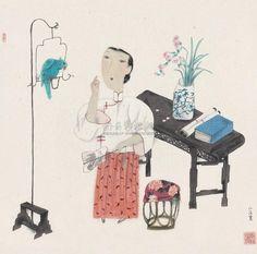 Ma Xiao Juan (b1955, Nanjing, Jiangsu Province, China) | 马小娟人物作品欣赏