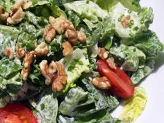 With the chèvre poured over torn green leaf lettuce and topped with garden tomatoes, snipped chives, and toasted walnuts, the salad has a definite bistro feel, but it's easy to make, light but decadent, and a bit off the beaten track