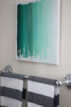 49 ideas bath room art diy canvas fun for 2019 Diy Wand, Diy Canvas, Canvas Wall Art, Colorful Wall Art, Easy Wall Art, Diy Art Projects, Creative Walls, Creative Art, Creative Ideas